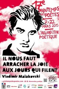 l'affiche du Printemps des Poètes 2015