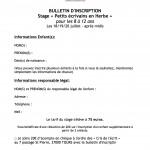 bulletin inscription stage enfants juil 16