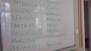 mots du début atelier des mots Mirabeau fin avril 17